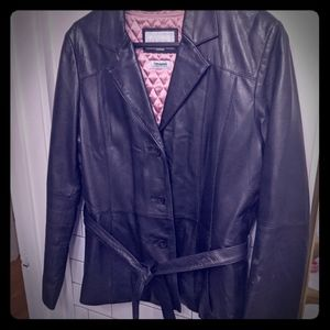 Wilson's short leather jacket.